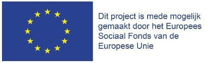 Dit project is mede mogelijk gemaakt door het Europees Sociaal Fonds van de Europese Unie